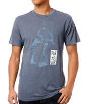RVCA Samurai Artist Network Program Grey Blue Tee Shirt
