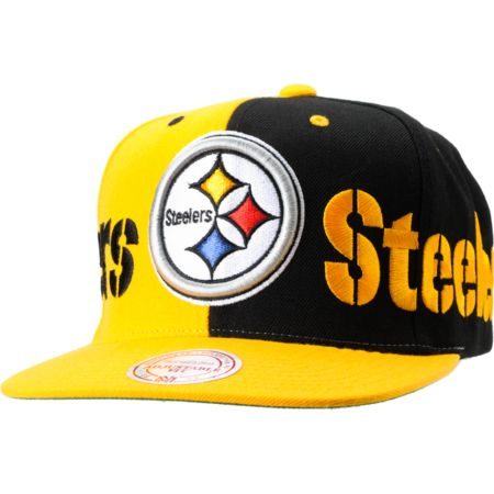 NFL Mitchell and Ness Pittsburgh Steelers The Split Snapback Hat