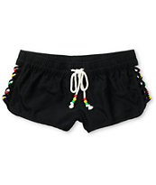 Empyre Girls Ceto Open Side Black Board Shorts