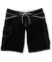 Empyre Girls Triton Long Black Board Shorts