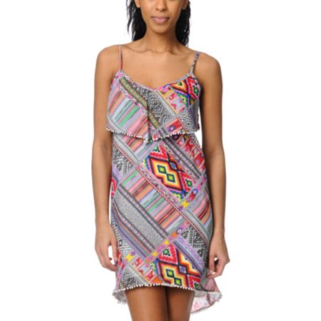 Billabong Bonavista Woven Self Ruffle Dress