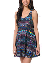 Element Sabine Lace Back Navy Tank Dress