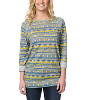 Obey Echo Mountain Tribal Print Crew Neck Sweatshirt