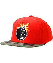 The Hundreds Adam Red & Camo Snapback Hat