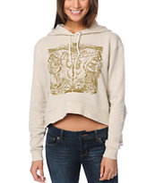 Obey Marked For Life Beige Dolman Pullover Hoodie