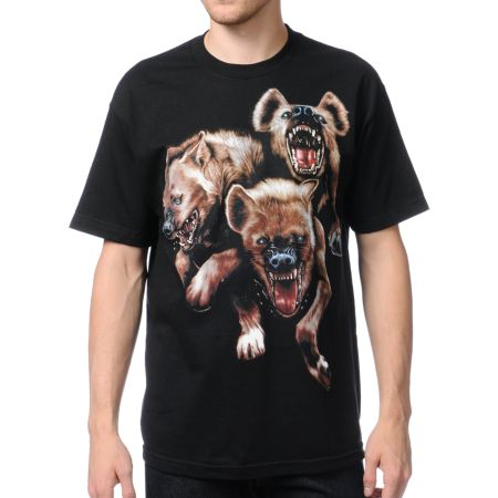 The Hundreds Hyenas Black Tee Shirt