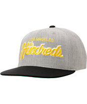 The Hundreds Team Two Heather Grey & Black Snapback Hat
