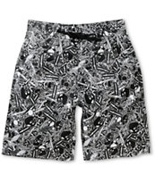 The Hundreds Reyes 2 Black & White Print Board Shorts