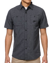 The Hundreds Dahlia Black Short Sleeve Button Up Shirt