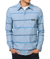 The Hundreds Wheat Blue Stripe Woven Button Up Shirt