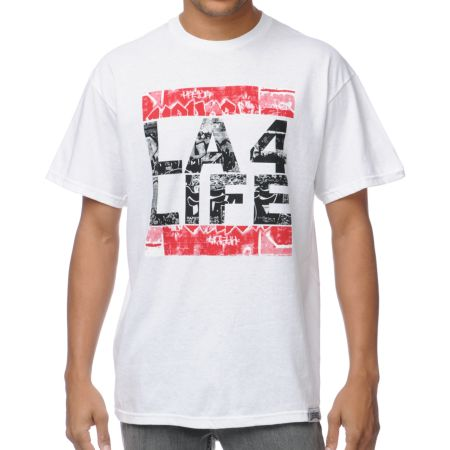 Local Legends LA 4 Life White Tee Shirt