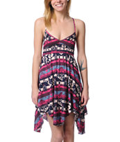 Billabong Preston Brick Red Tribal Print Dress
