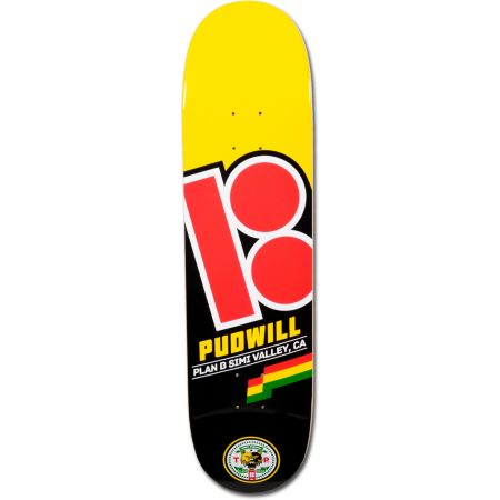 Plan B Pudwill Flag 8.0 Skateboard Deck