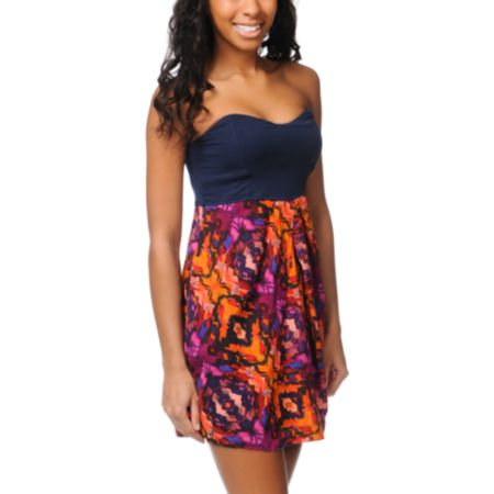 Hurley Girls Capetown Woven Acai Berry Dress