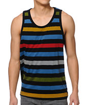 Matix Money Striped Black Tank Top