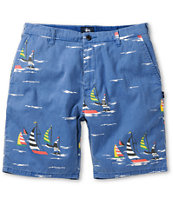 Stussy Sailing Blue Print Chino Shorts