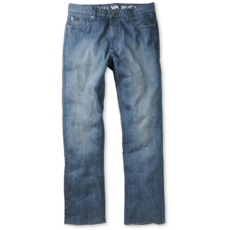 RVCA Chev Extra Stretch Rough Blue Regular Fit Jeans