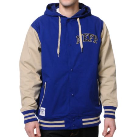 Neff Navy & Tan Varsity Jacket