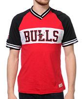 Mitchell and Ness Bulls Substitution Red Knit Tee Shirt