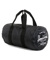 Herschel Supply Packable Black Duffel Bag