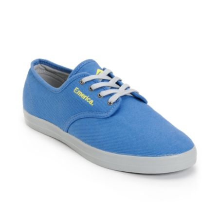 Emerica Wino Blue Canvas & Grey Twill Shoe