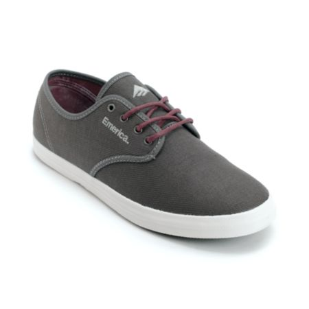 Emerica Wino Grey & Maroon Shoe