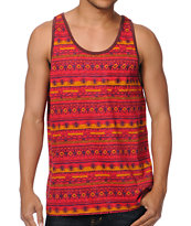 Obey Ottoman Red Pocket Tank Top