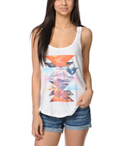 Billabong Clarity All Over White Tank Top