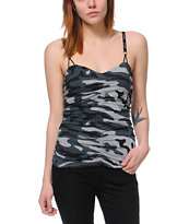 Fox Girls In Command Camo Print Cami Tank Top