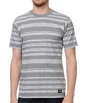 Stussy Tom Tom Grey Knit Tee Shirt