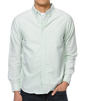 Stussy Classic Oxford Mint Long Sleeve Button Up Shirt