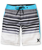 Hurley Crikey Black & Blue Stripe 21 Board Shorts