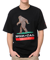 Nor Cal Big Foot Country Black Tee Shirt