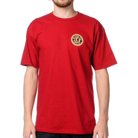 Brixton Spear Red Tee Shirt