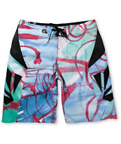 Volcom Annihilator Paint Blue 21 Board Shorts