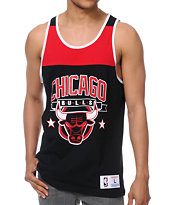 NBA Mitchell & Ness Bulls Black Color Blocked Tank Top