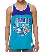 NBA Mitchell & Ness Hornets Turquoise Color Blocked Tank Top