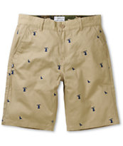 DGK Iconic Khaki Regular Fit Chino Shorts