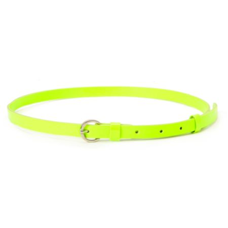 Super Trader Neon Green Skinny Belt