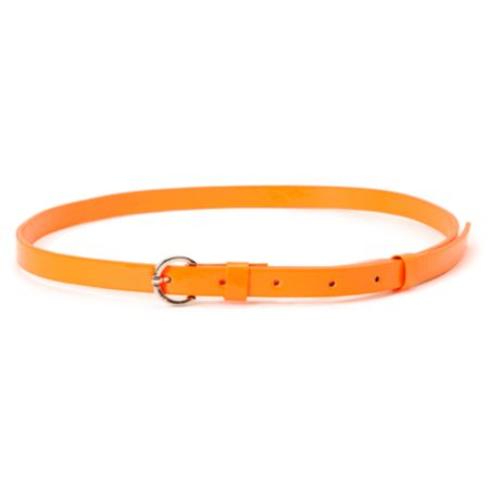 Super Trader Neon Orange Skinny Belt