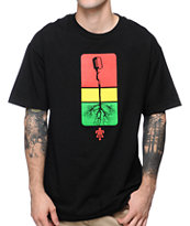 Teruo Mic Roots Black & Rasta Tee Shirt