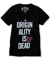 Glamour Kills Originality Isnt Dead Black Tee Shirt
