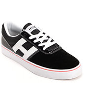 Huf Choice Black & White Suede Skate Shoe
