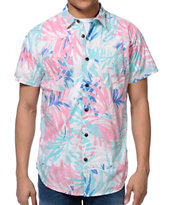 Analog Crockett Hawaiian Print Button Up Shirt