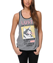 Glamour Kills Twinkles Is Lost Grey Racerback Tank Top