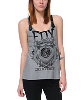 Fox Girls Force Heather Grey Cami Tank Top