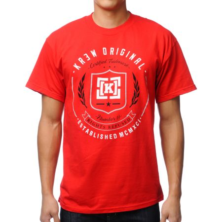 KR3W Shield Red Tee Shirt