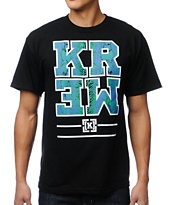 KR3W Snake Block Black Tee Shirt