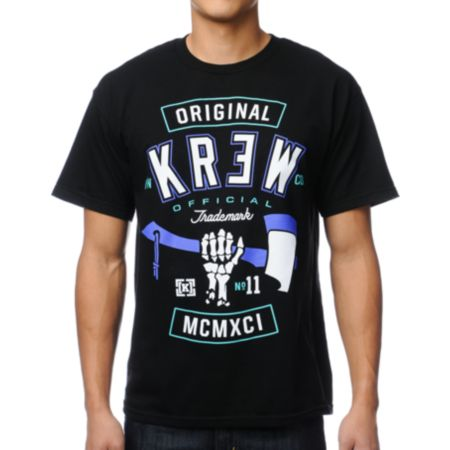 KR3W Hack Black Tee Shirt
