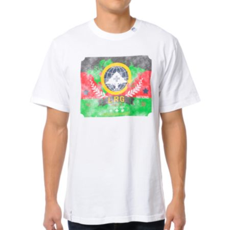 LRG Nation of Trees White Tee Shirt